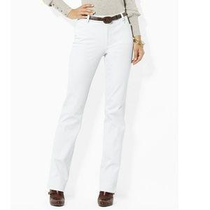 Lauren Ralph Lauren Adelle Straight Pants, white